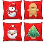 Conjunto de Almofadas de Natal - 4 Almofadas