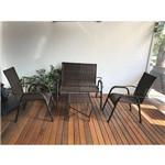 Conjunto de Área com Namoradeira, 2 Cadeiras e Mesa de Centro