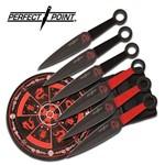 Conjunto de Arremesso Perfect Point com 6 Facas Acompanha Alvo Master Cutlery