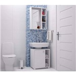 Conjunto de Banheiro Armário com Gabinete 2 Nichos - Branco