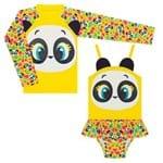Conjunto de Banho Infantil Panda: Camiseta + Maiô - Puket