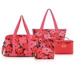 Conjunto de Bolsa de 4 Peças Papoula Poliéster Salmão - Jacki Design - Jacki Design - Jacki Design