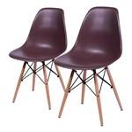 Conjunto de 2 Cadeiras de Jantar Eames Wood Café ÓR