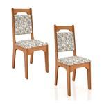 Conjunto de 2 Cadeiras Estofadas Ca292 Dalla Costa
