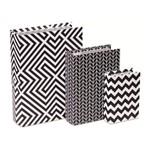 Conjunto de 3 Caixas Livro Geometric Mart