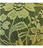 Conjunto de Calcinha e Sutiã Cropped Renda Strappy - 740 Preto Renda Amarelo M