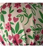 Conjunto de Calcinha e Sutiã em Microfibra Fio Dental Estampado - 332 Flores Vinho Folhas Verde P