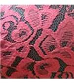 Conjunto de Calcinha e Sutiã Microfibra com Renda - 924 Preto Renda Vermelho P