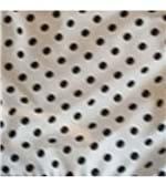Conjunto de Calcinha e Sutiã Microfibra Poá - 294 Branco Poá Preto/G