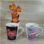 Conjunto de Canecas em Porcelana Dia das Mães (2 Peças)