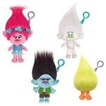 Conjunto de Chaveiros de Pelúcia Trolls - Grandes - Poppy, Guy Diamond, Fuzzbert e Branch - Candide
