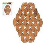 Conjunto de Descanso de Panela Oval Bambu 3 Pecas