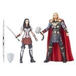 Conjunto de Figuras Articuladas - 26 Cm - Disney - Marvel Studios - 10 Anos - Thor e Lady - Hasbro