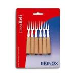Conjunto de Garfos para Petisco Beli 6 Peças - Brinox