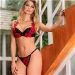 Conjunto de Lingerie Sexy com Aplicação