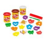 Conjunto de Massas de Modelar - Super Massa - Cookies Divertidos - Estrela