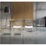 Conjunto de Mesa 0328 e 6 Cadeiras 1712 - Carraro 3281712.6.P.VI 32817126PVI
