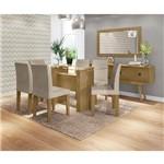 Conjunto de Mesa 159 Cm com 6 Cadeiras Zafira Naturale Rustic