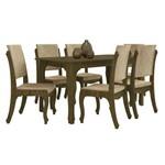 Conjunto de Mesa 160 Cm com 6 Cadeiras Onix Imbuia