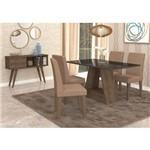Conjunto de Mesa Alana 130 Cm com 4 Cadeiras Milena Marrocos e Pluma