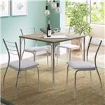 Conjunto de Mesa com 4 Cadeiras Anis/Branco