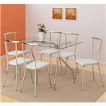 Conjunto de Mesa de Jantar Robertt com 6 Cadeiras Tours Napa Branca