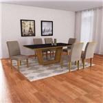 Conjunto de Mesa de Jantar Sofia com 6 Cadeiras Lunara Animalle Imbuia e Preto