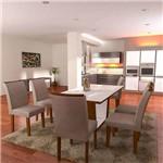 Conjunto de Mesa de Jantar Sofia com 6 Cadeiras Lunara Suede Chocolate e Imbuia