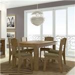 Conjunto de Mesa para Sala de Jantar Tm22rr 160 X 90cm 6 Cadeiras - Dalla Costa