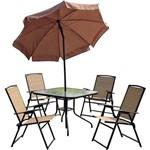 Conjunto de Mesa Quadrada para Jardim Acapulco com 4 Cadeiras - Mor