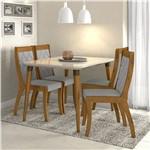 Conjunto de Mesa Rovere/cinza Ballet com 4 Cadeiras Merengue - Lopas