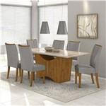 Conjunto de Mesa Rovere/cinza Rock 1,80m com 6 Cadeiras Apogeu - Lopas