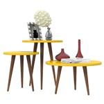 Conjunto de Mesas Legs - Amarelo