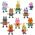 Conjunto de Mini Figuras - 5 Cm - Peppa Pig - Peppa Fantasias - Dtc