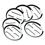 Conjunto de Porta Copos Aço Inox 6 Peças 9 Cm Brinox Arienzo 1669/000