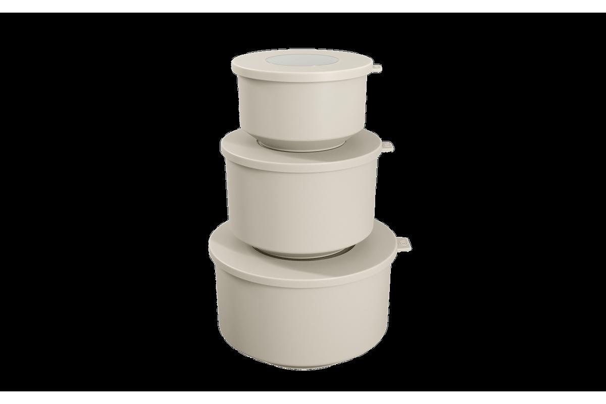 Conjunto de 3 Potes Hoop 8,3x19,6x11cm Light Gray Coza