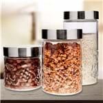 Conjunto de Potes 3 Peças Frutas Euro Home Vidro Vidro