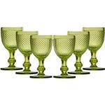 Conjunto de Taças de Vidro para Vinho Bico de Jaca Verde 130ml 6 Peças - Rojemac