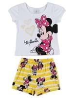Conjunto Disney Baby Infantil para Bebê Menina - Branco/amarelo