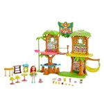 Conjunto Enchantimals Café na Selva Peeki e Sheeny - Mattel