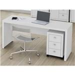 Conjunto Escritório Tecno Mobili Mesa 4109 + Gaveteiro Me4108 – Branco