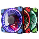 Kit 3 Fan Cooler RGB Anel - Led DX-123F DEX