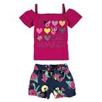 Conjunto Feminino Infantil Rosa The Summer Malwee