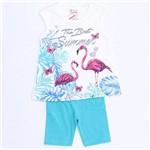 Conjunto Flamingo Glitter - Brandili