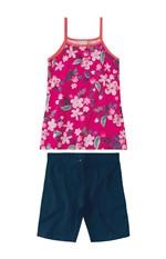 Conjunto Floral Menina Malwee Kids Rosa Escuro - 1