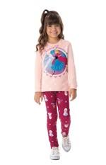 Conjunto Frozen® Menina Malwee Kids Rosa Claro - 1