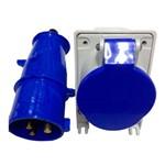 Conjunto Industrial Tomada + Plug Steck 2P+T 16a Azul Newkon