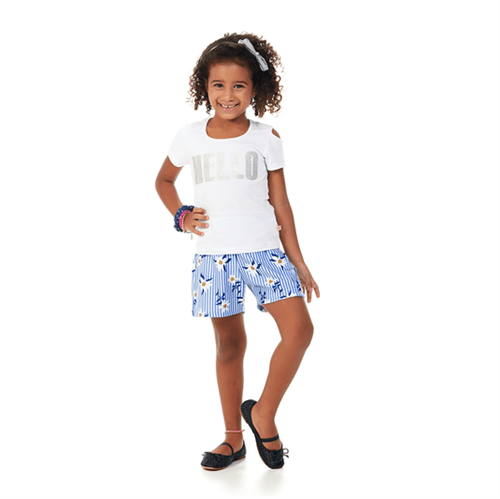 Conjunto Infantil Abrange Hello Branco e Azul 04