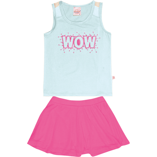 Conjunto Infantil Abrange WOW Azul e Pink 04