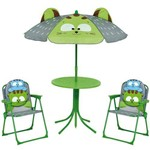 Conjunto Infantil Cadeiras, Mesa e Guarda-Sol 4 Pe
